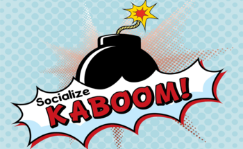 Small socialize kaboom network logo