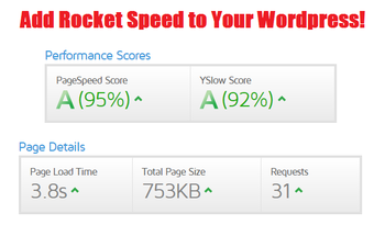 Small wordpress website speed increase