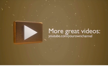 Small gold you tube animation