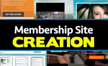 Small membership site creation
