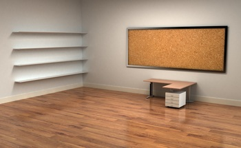 Small desk and board in an empty room 1920x1200 wallpaper583042