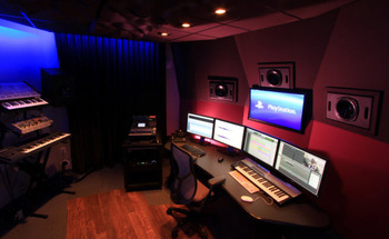 Small sony music studio edit suite