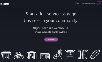 Small boxbee homepage design