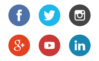 Small social media icons the circle set