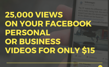 Small 25 000 viewson your facebook personalor businessvideos