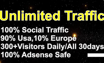 Small i will provide unlimited targeted website traffic social visitors