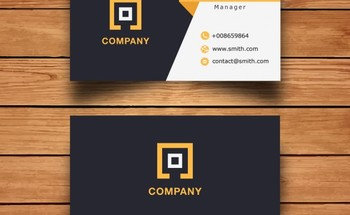 Small modern corporate business card design 1051 541
