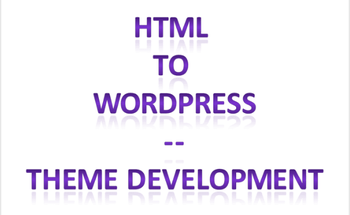 Small html to wordpress theme development   website development