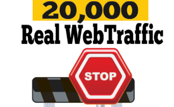 Small real website traffic