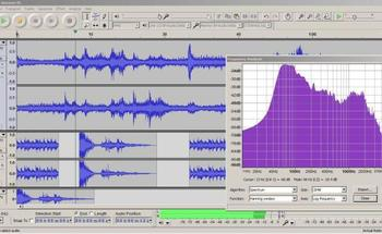 Small audacity with frequency analysis