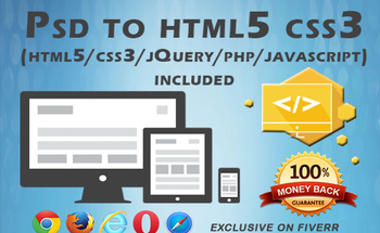 Small psd to html