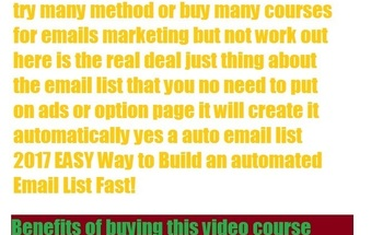 Small email list building 1 page