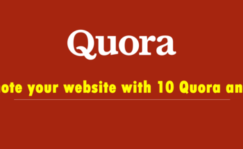 Small promote your website with 10 quora answers
