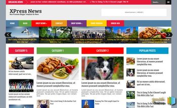 Small xpress news blogger template