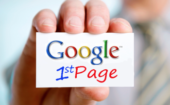 Small google first page