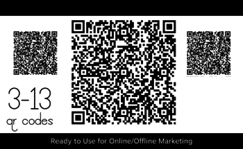 Small konker 3 13 qr codes for url website social media profile