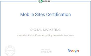 Small mobile sites certificate