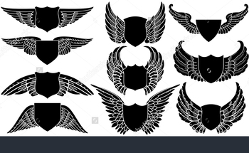 Small stock vector shields with wings create your own logo 8207323 1