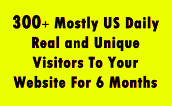 Small 300 mostly us daily real and unique visitors to your website for 6 months