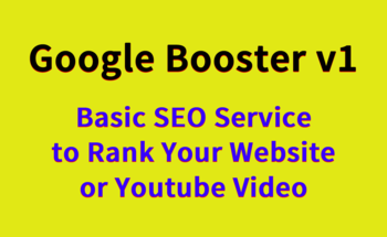 Small google booster v1   basic seo service to rank your website or youtube