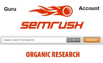 Small semrush online tool for organic search and competitors