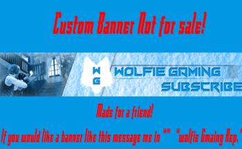 Small wolfie gaming banner ex