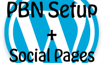 Small pbn setup and social pages