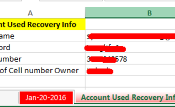 Small account info example