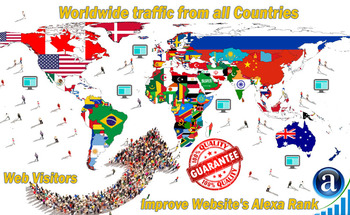 Small send you real worldwide website traffic visitors from all countries