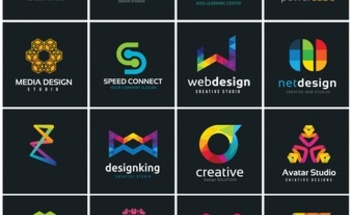 Small creative logo collection media and creative idea logo design template 1195 896