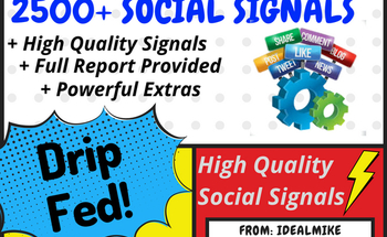 Small 2500  super seo social signals shares bookmarks backlinks powerful google ranking factors