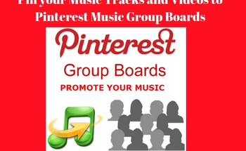 Small pin your music tracks and videos to my pinterest group boards
