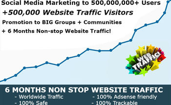 Small 500 000 000 social media marketing and 500 000 website traffic explosion service