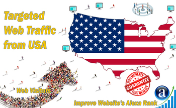 Small targeted organic traffic from usa