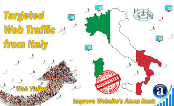 Small send targeted italy organic traffic