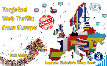 Small send targeted europe organic traffic