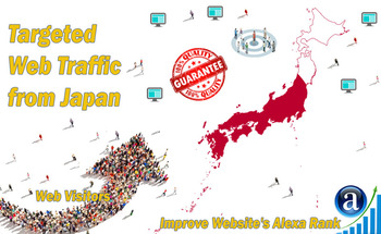 Small send 25000 japan web visitors real targeted geo traffic