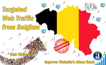 Small send 25000 belgium web visitors real targeted geo traffic