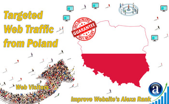 Small send 25000 poland web visitors real targeted geo traffic