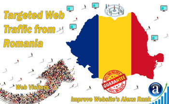 Small send 25000 romania web visitors real targeted geo traffic