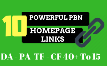 Small 10 high pa da tf cf homepage pbn backlinks to skyrocket you serp 3