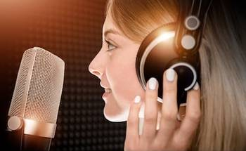Small female voice talent recording studio 260nw 516237007