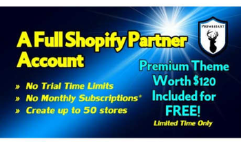 Small provide unlimited full shopify account free with no time limit to pay fees