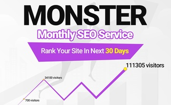 Small create powerful monthly whitehat high da backlinks monster seo service