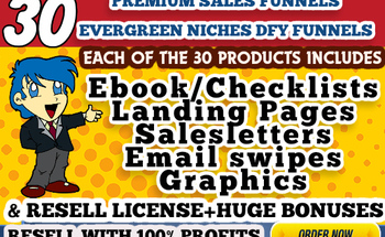 Small dfy evergreen niches ebooks with sales funnels resell rebrand rights