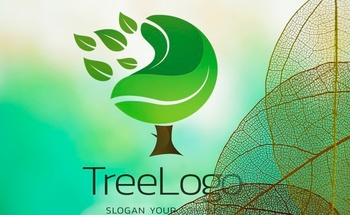 Small tree logo with translucent leaves 23 2148272943