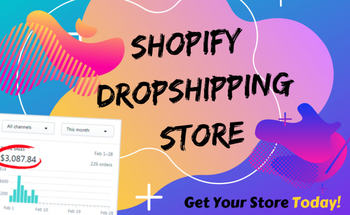 Small create setup and launch shopify dropshipping store