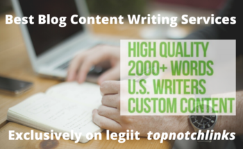 Small best blog content writing services