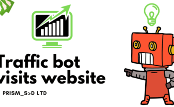 Small traffic bot visits website