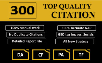 Small top quality local citation manually done for any country